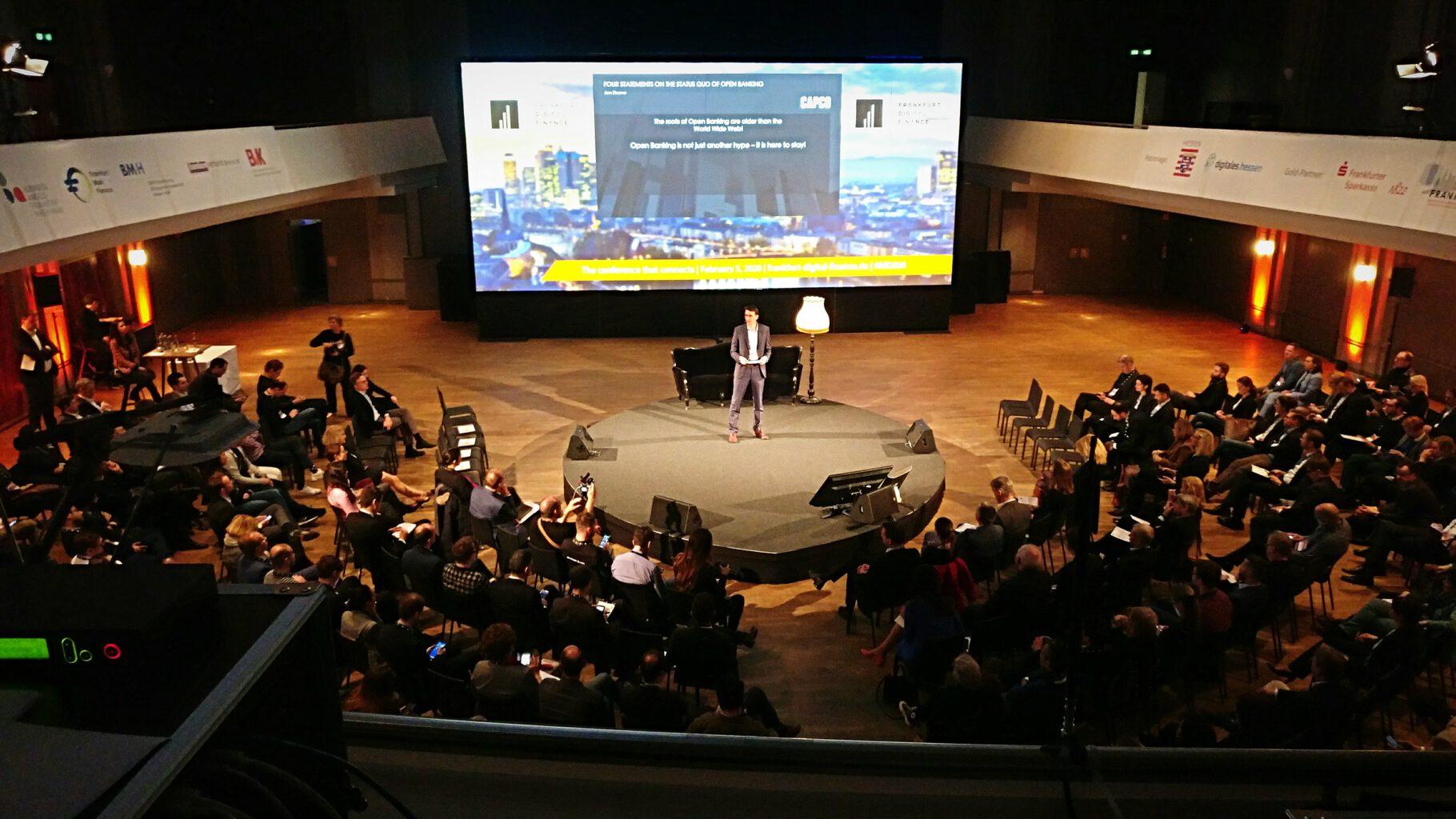 Veranstaltung MIT-Global Investors 2020 im Zoogesellschaftshaus in Frankfurt. Media Digital verantwortlich für die Medientechnik.